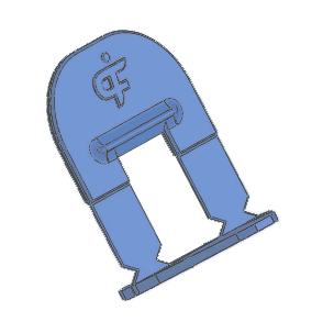 Calzo nivelación azul